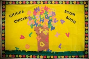 toddler classroom bulletin board